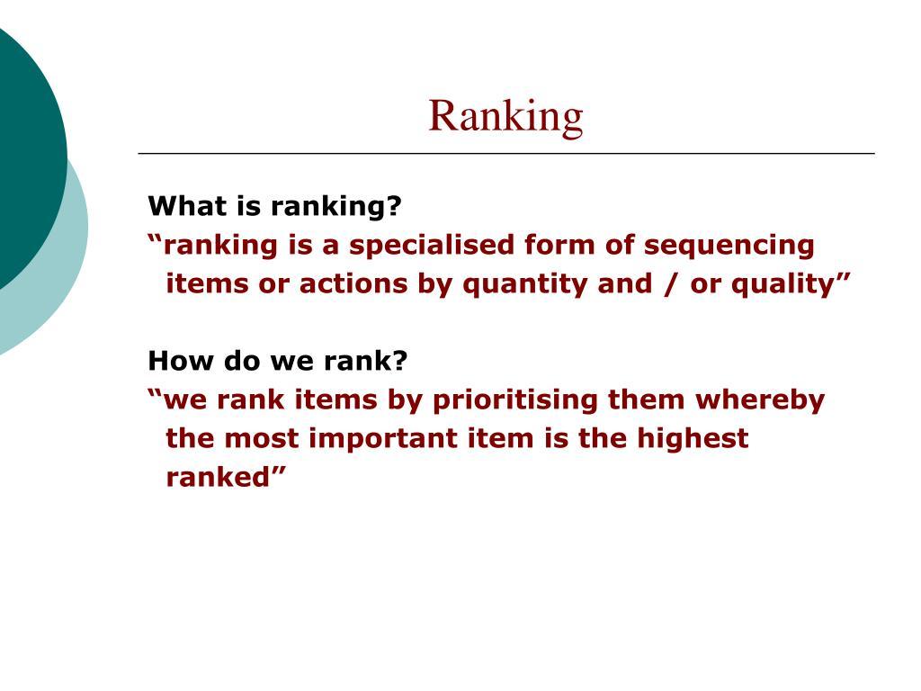 ranking l.