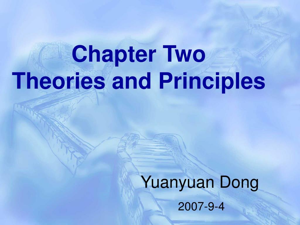 chapter two theories and principles l.