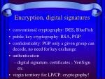 encryption digital signatures