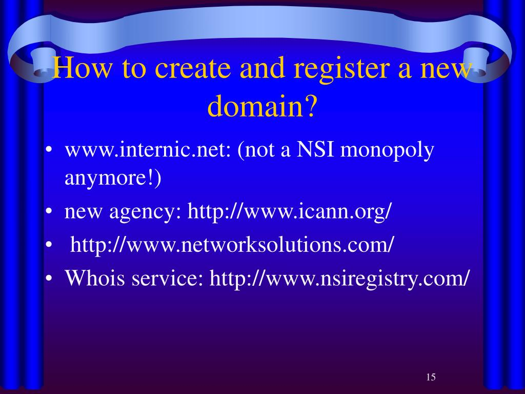 How to create and register a new domain?