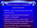internet based e commerce infrastructure