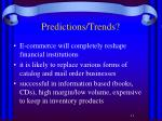 predictions trends