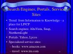 search engines portals service sites