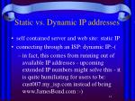 static vs dynamic ip addresses