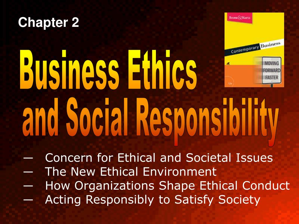chapter 21 ethical social environmental responsibilities in business Some readers might be wondering: why include a chapter on business ethics and social responsibility in a handbook on strategy and management our short answer is that we see many benefits from greater integration between business and society scholarship and more mainstream approaches to the study of strategy and management.