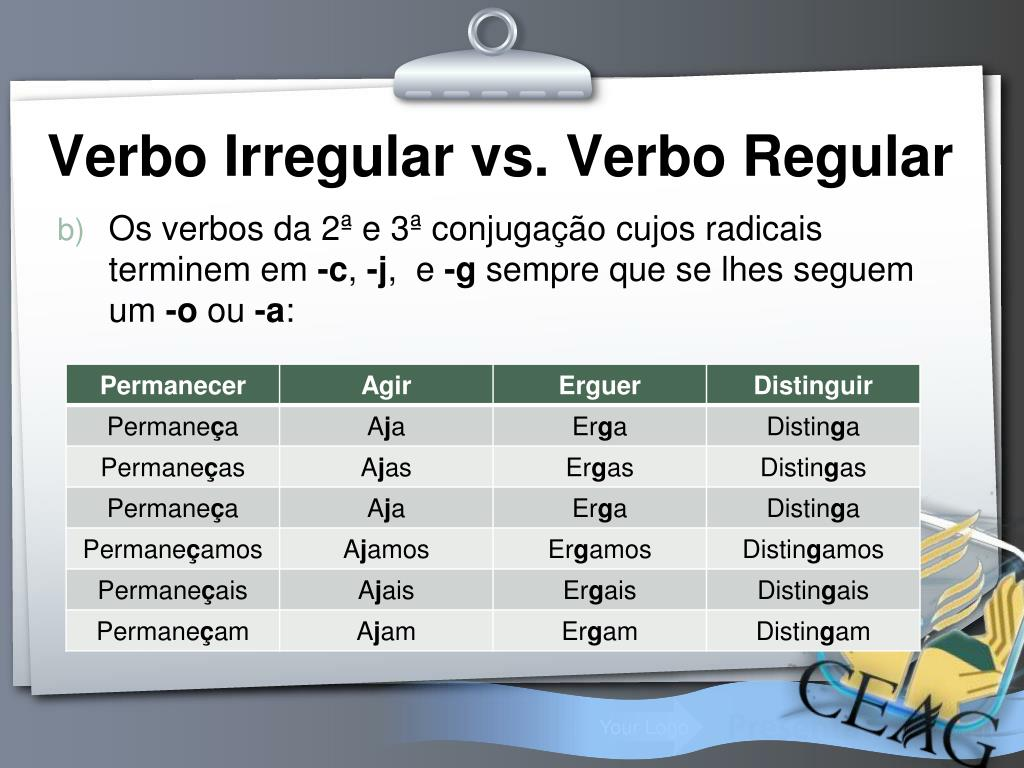 Ppt Verbos Regulares E Irregulares Powerpoint Presentation Free Download Id 572424