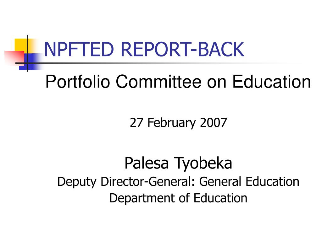 npfted report back l.