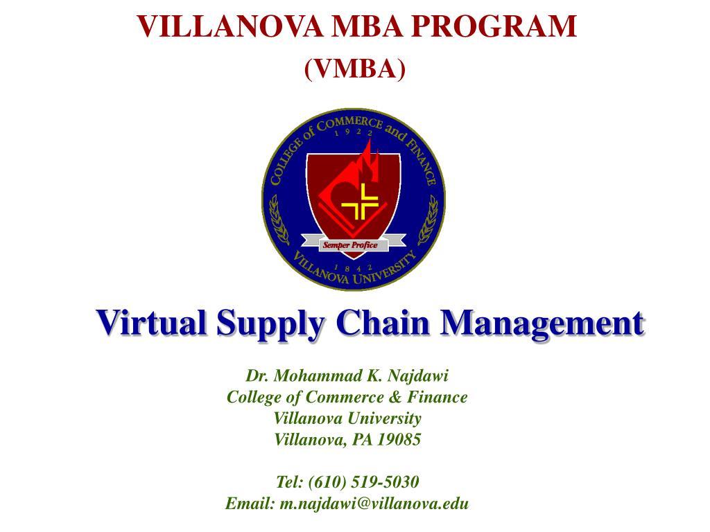 VILLANOVA MBA PROGRAM