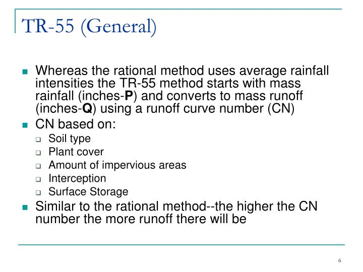 Ppt Tr 55 Urban Hydrology For Small Watersheds Powerpoint