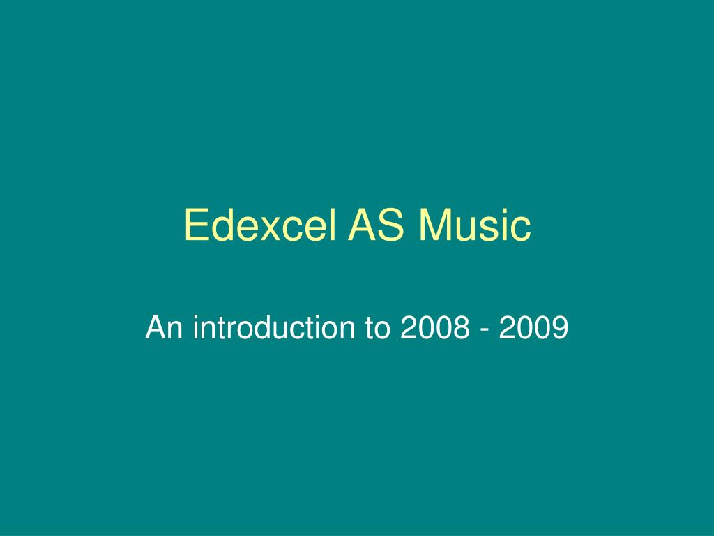 edexcel as music l.
