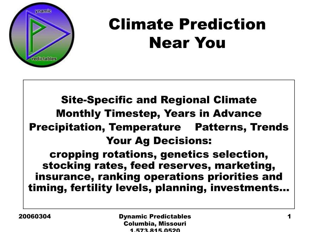 climate prediction near you l.
