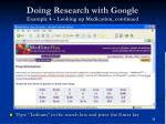 doing research with google example 4 looking up medication continued