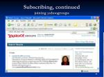 subscribing continued joining yahoogroups48