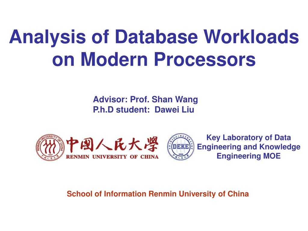 analysis of database workloads on modern processors l.