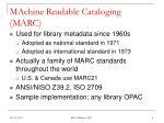 machine readable cataloging marc