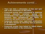 achievements contd