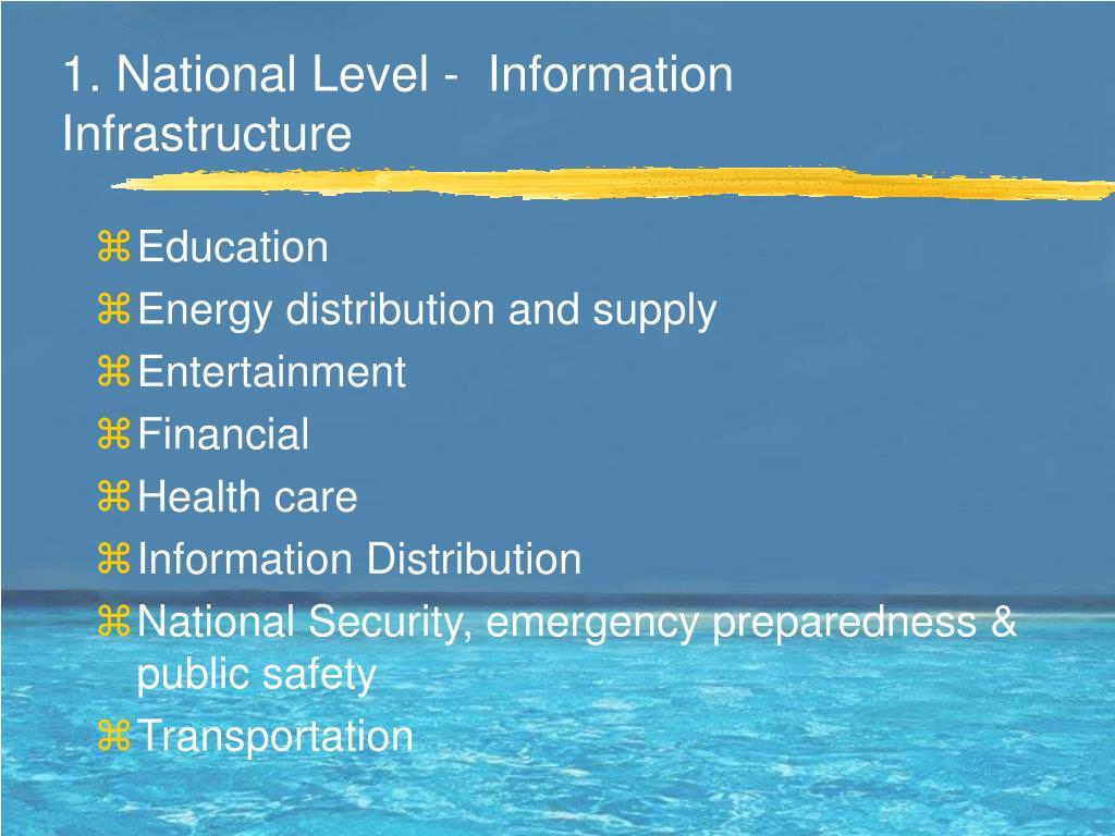 1. National Level -  Information Infrastructure
