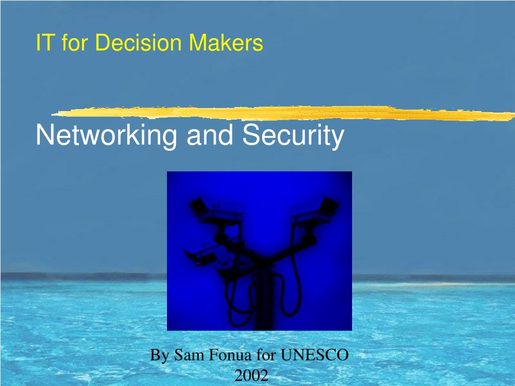it for decision makers networking and security l.