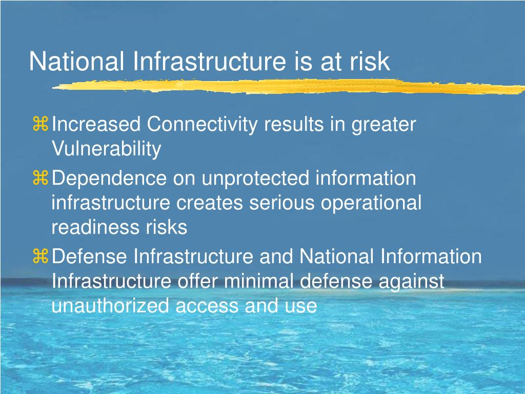 National Infrastructure is at risk