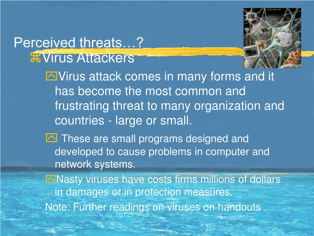 Perceived threats…?