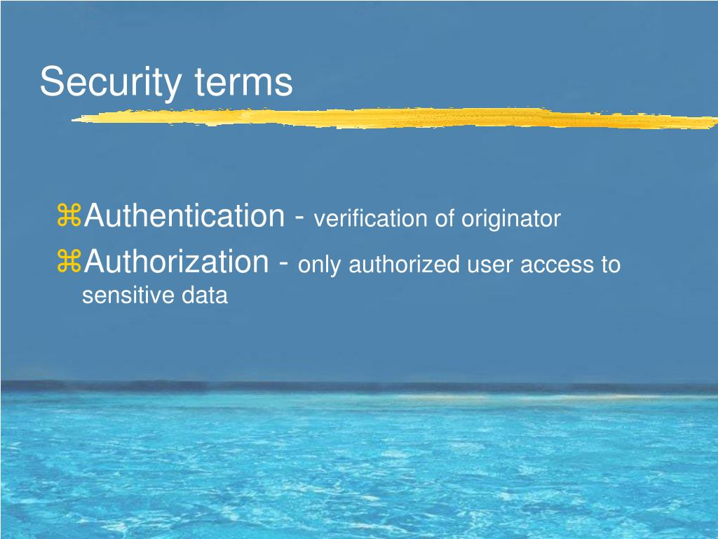Security terms