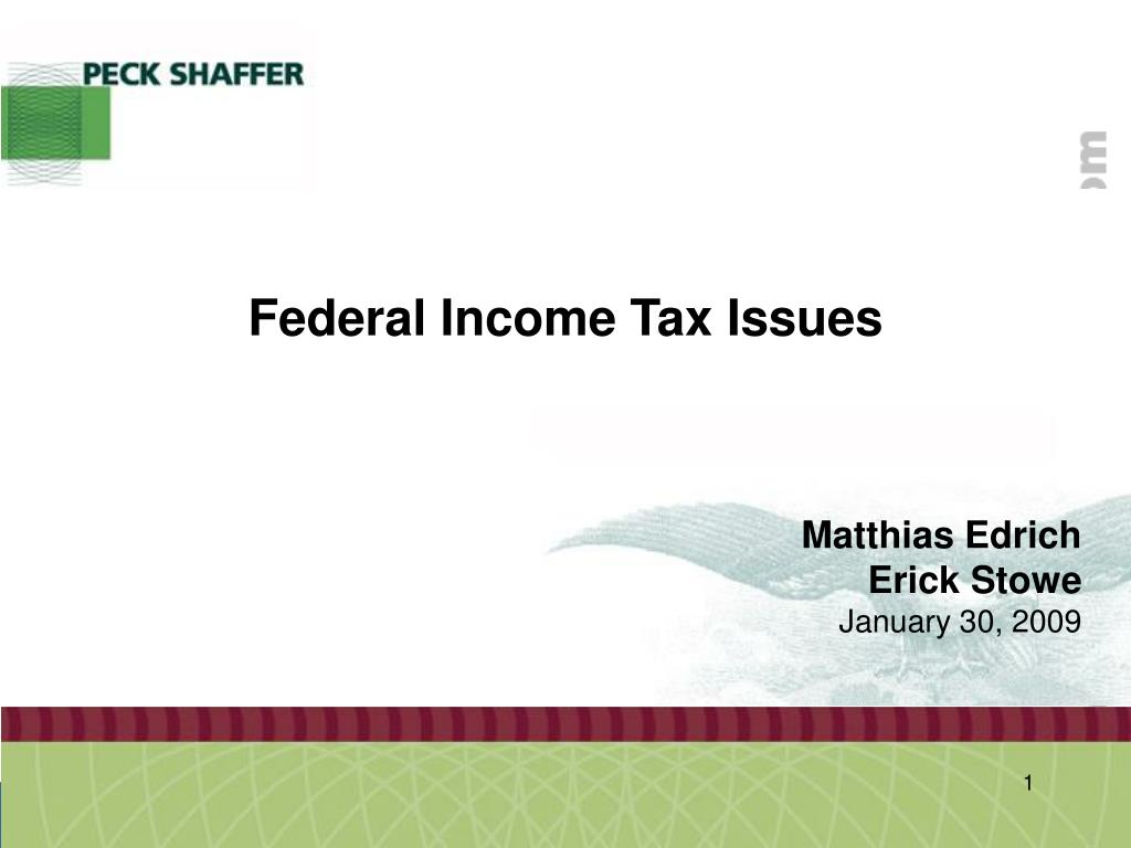 federal income tax issues l.