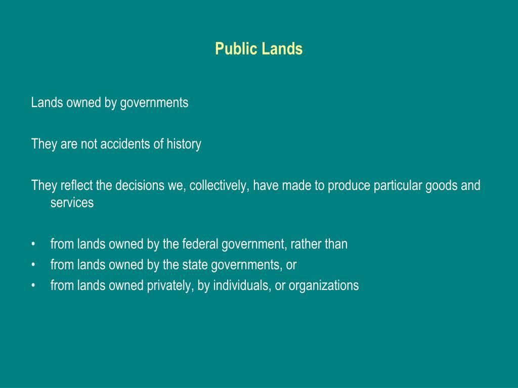 public lands l.
