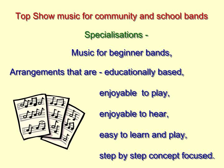Top Show music for community and school bands