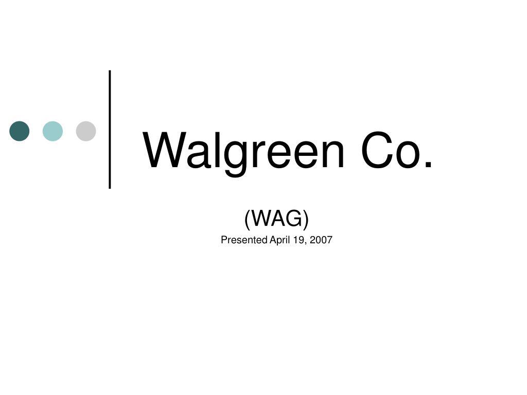 walgreen co l.