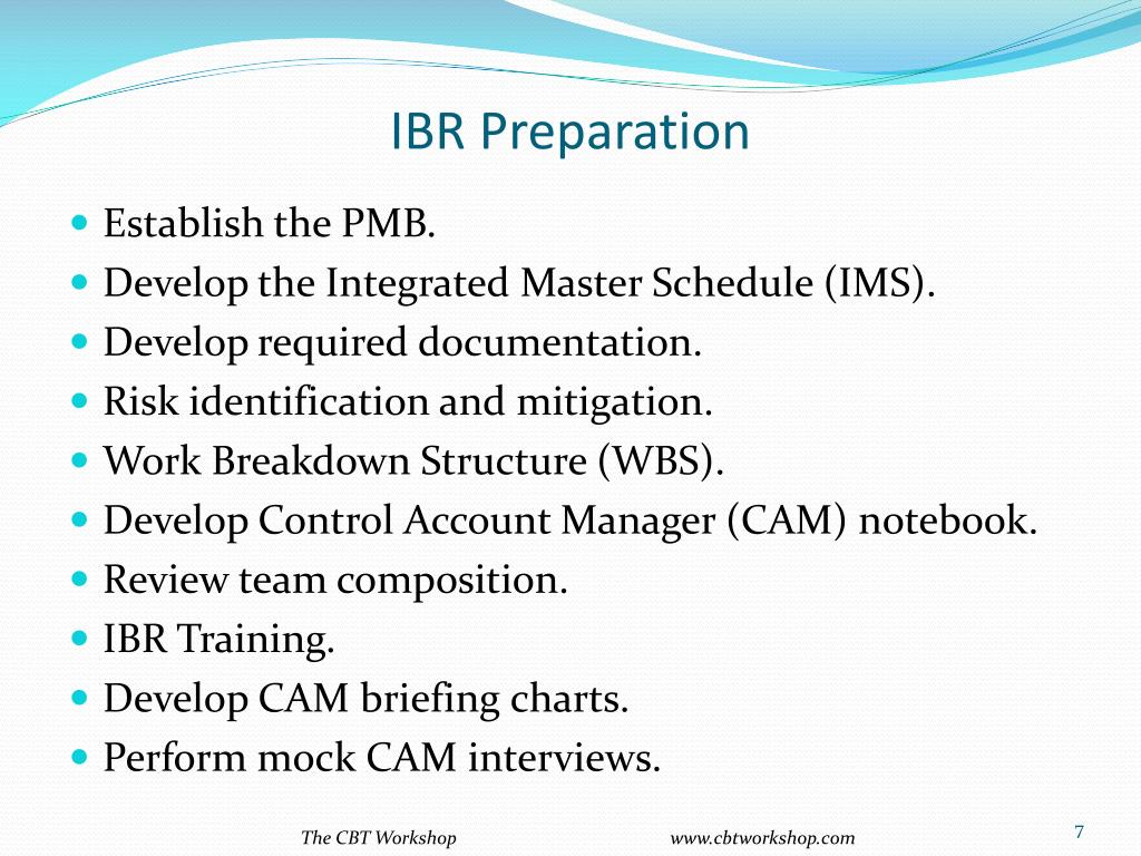 IBR Preparation