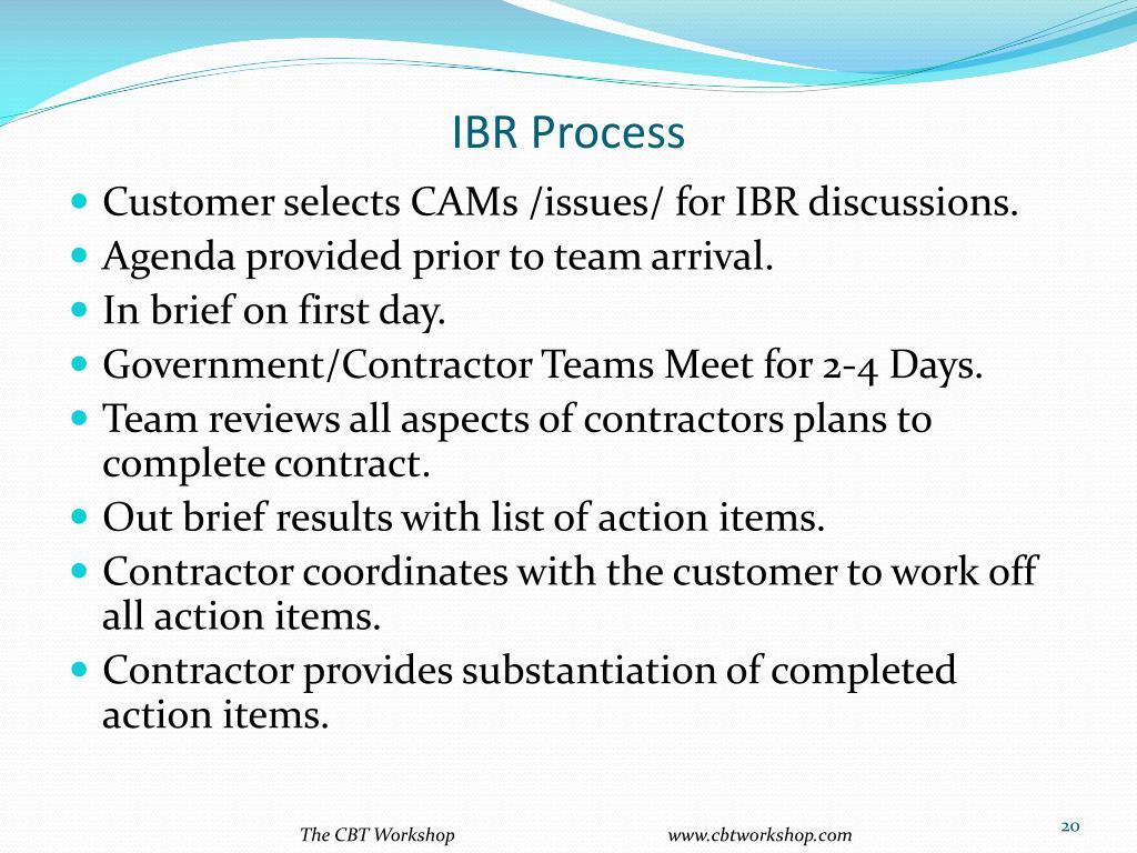 IBR Process