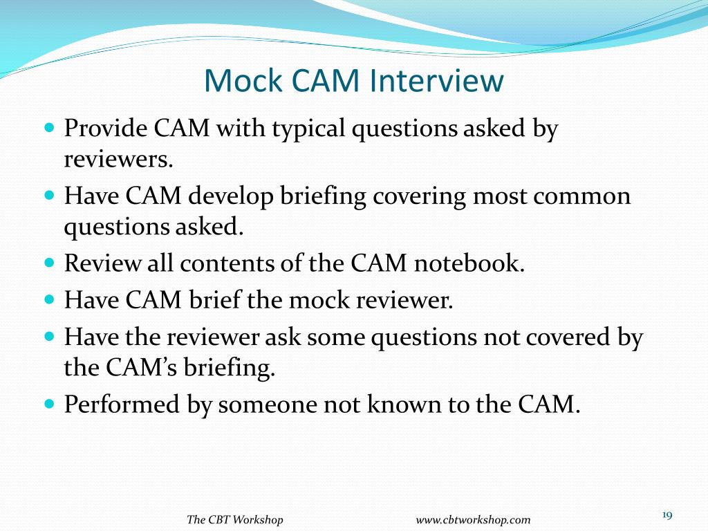 Mock CAM Interview
