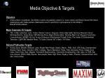 media objective targets