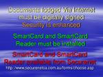 documents lodged via internet must be digitally signed security is enhanced