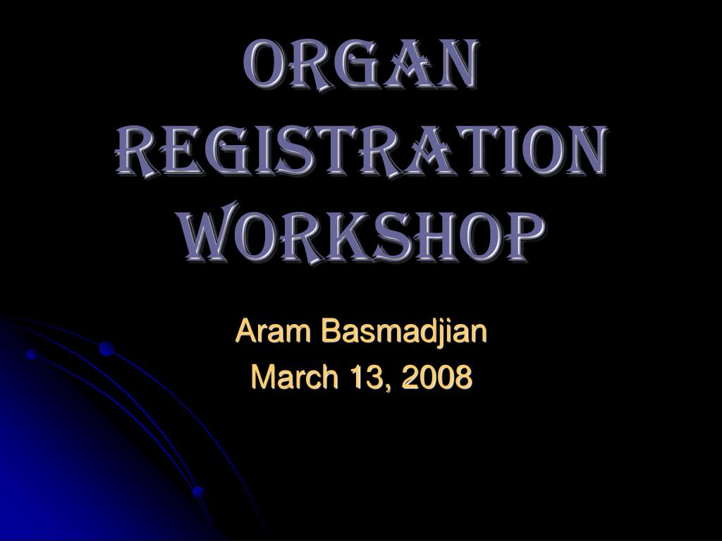 organ registration workshop l.