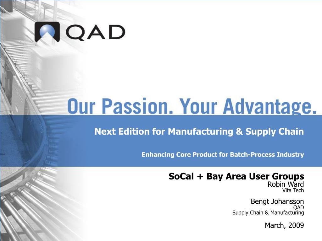 next edition for manufacturing supply chain enhancing core product for batch process industry l.