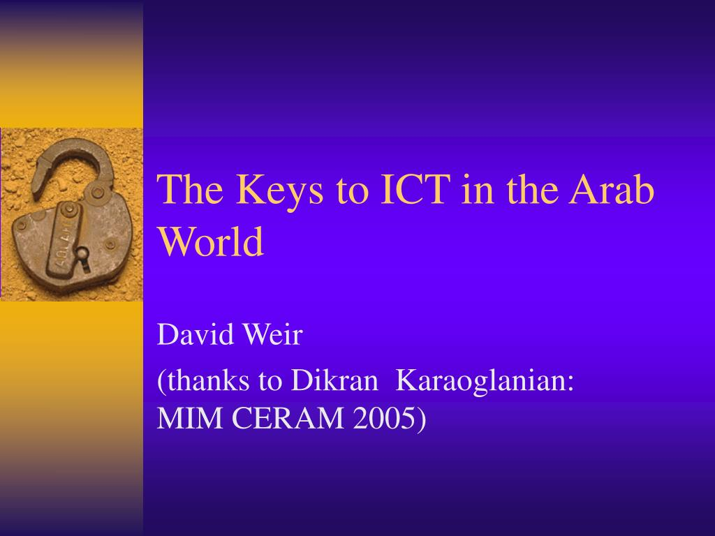 the keys to ict in the arab world l.