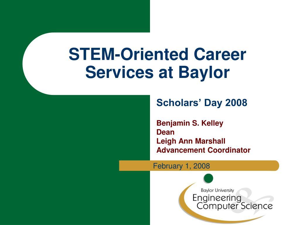 stem oriented career services at baylor l.