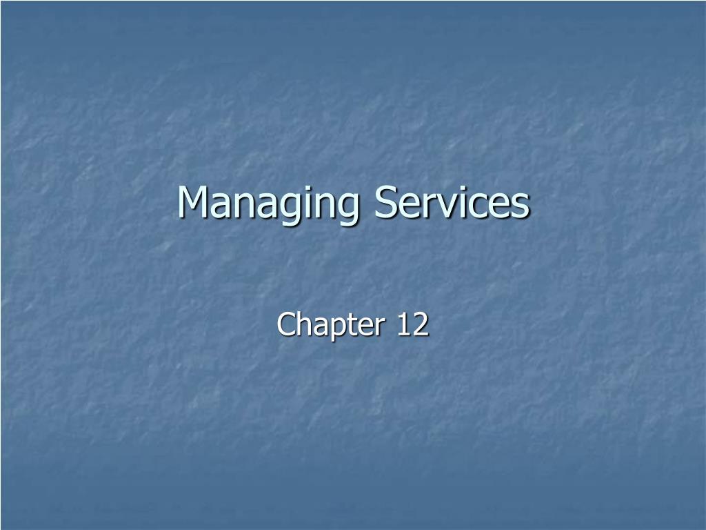 managing services l.