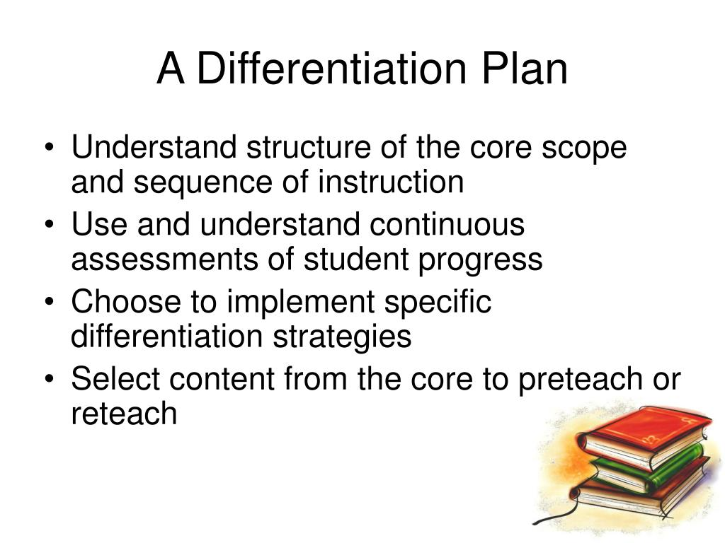 A Differentiation Plan