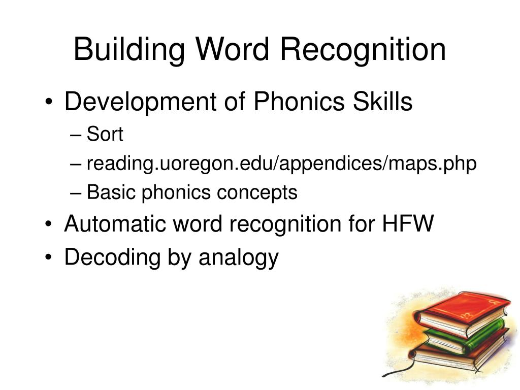 Building Word Recognition