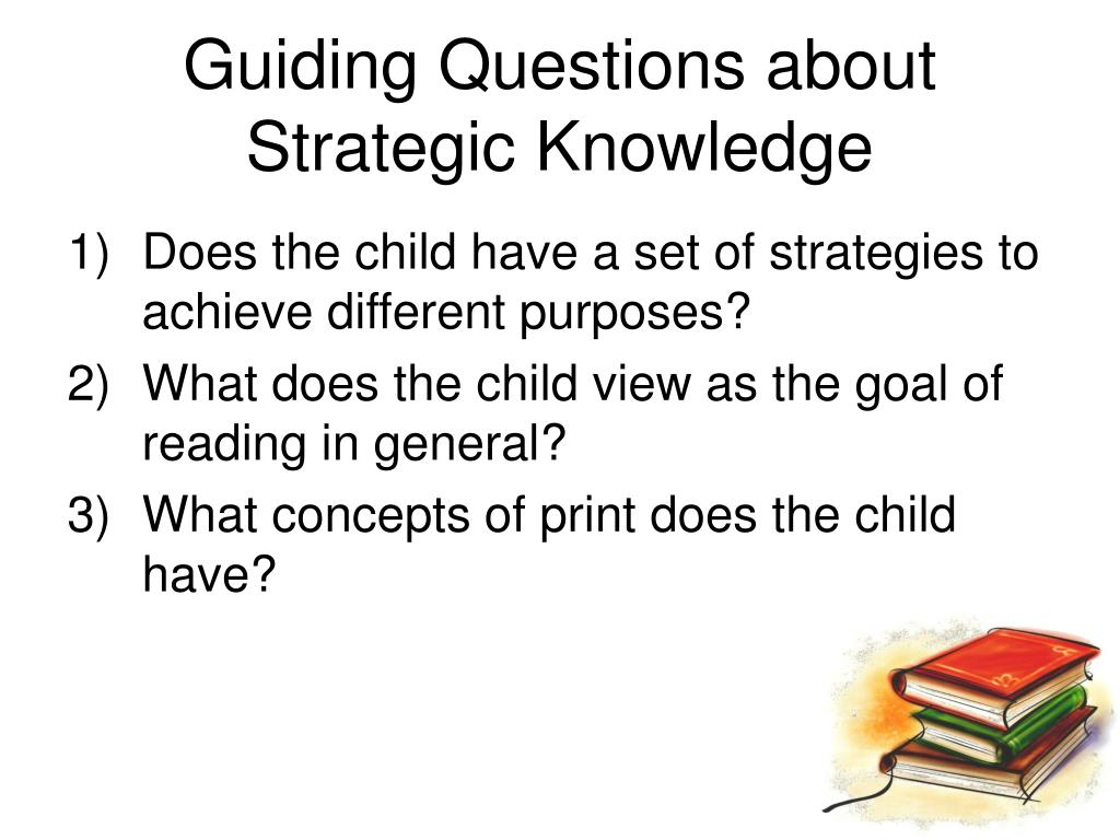 Guiding Questions about Strategic Knowledge