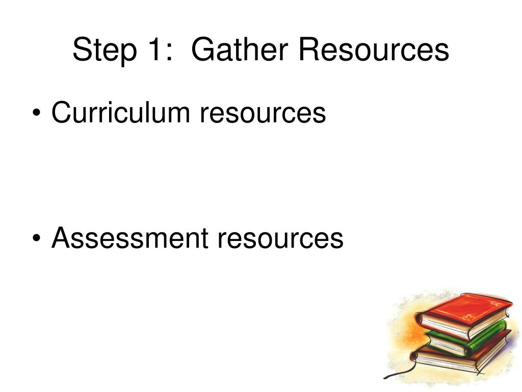 Step 1:  Gather Resources