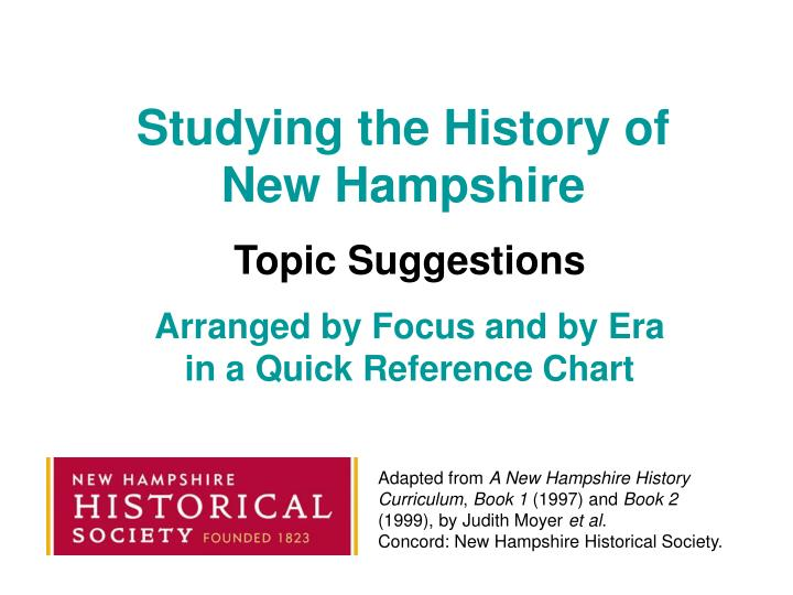 studying the history of new hampshire n.
