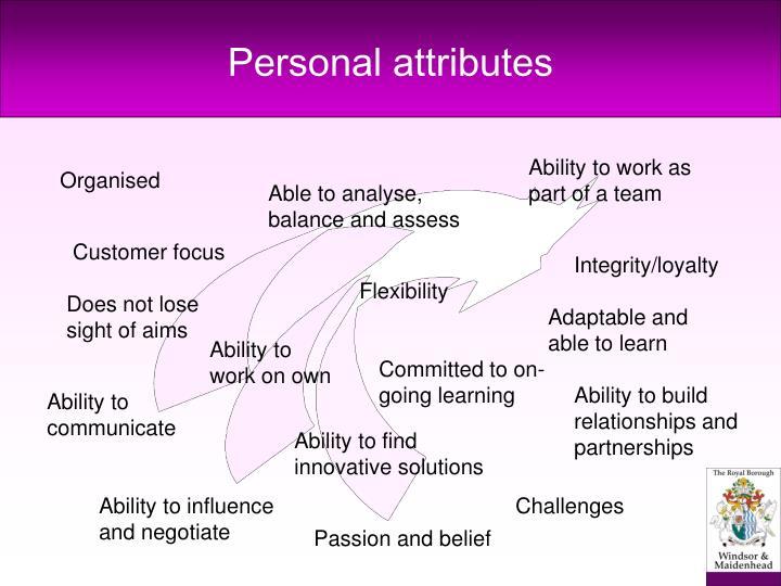 Personal attributes