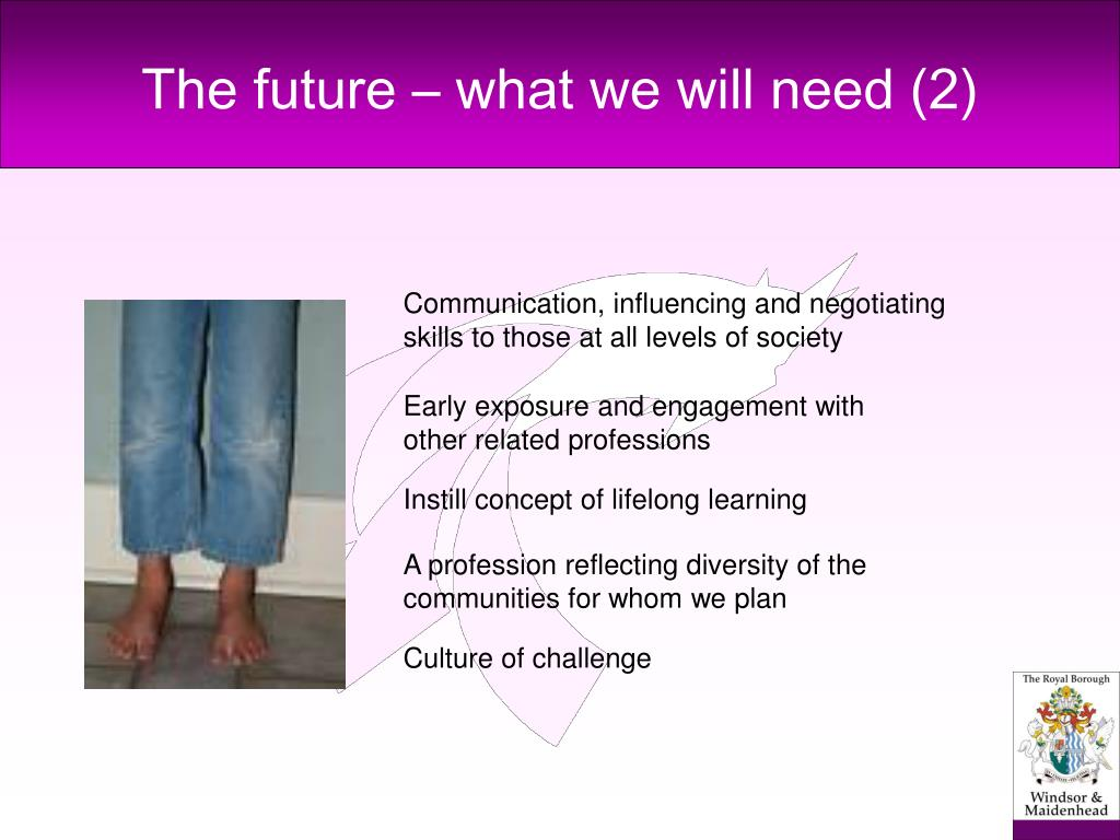 The future – what we will need (2)