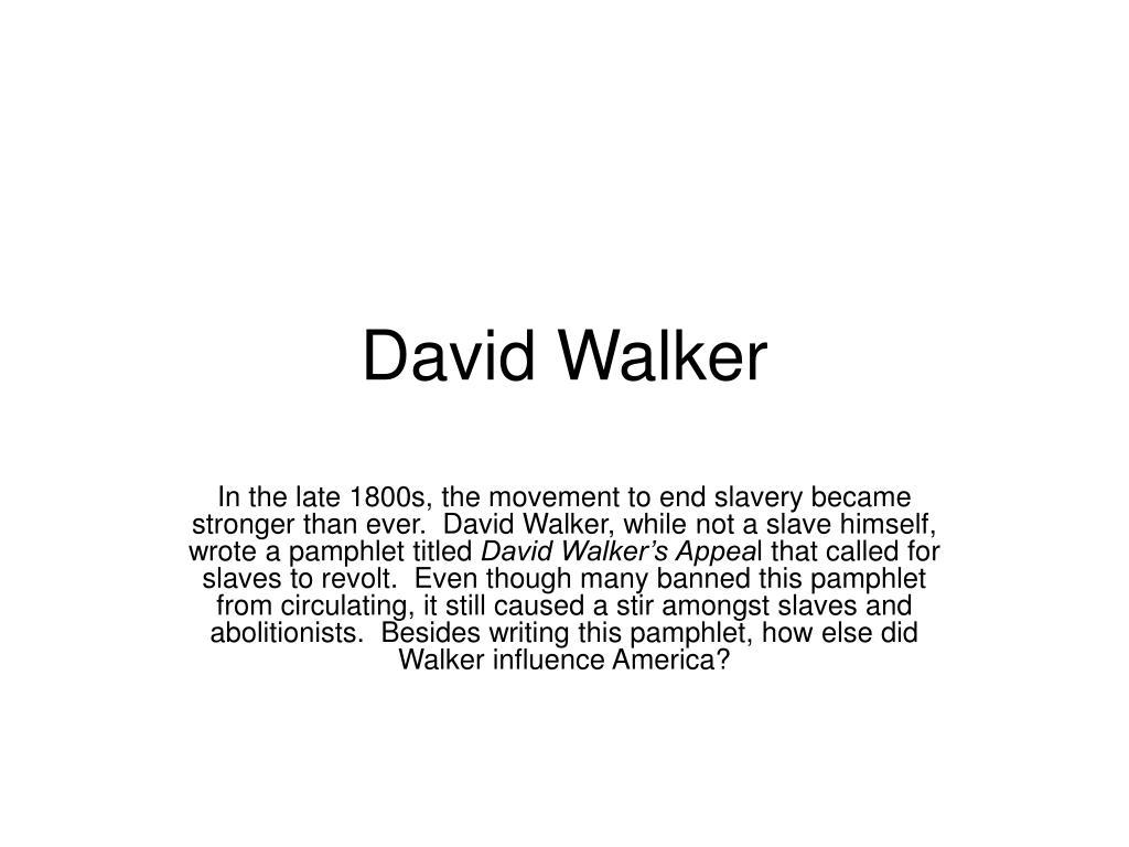 david walker l.