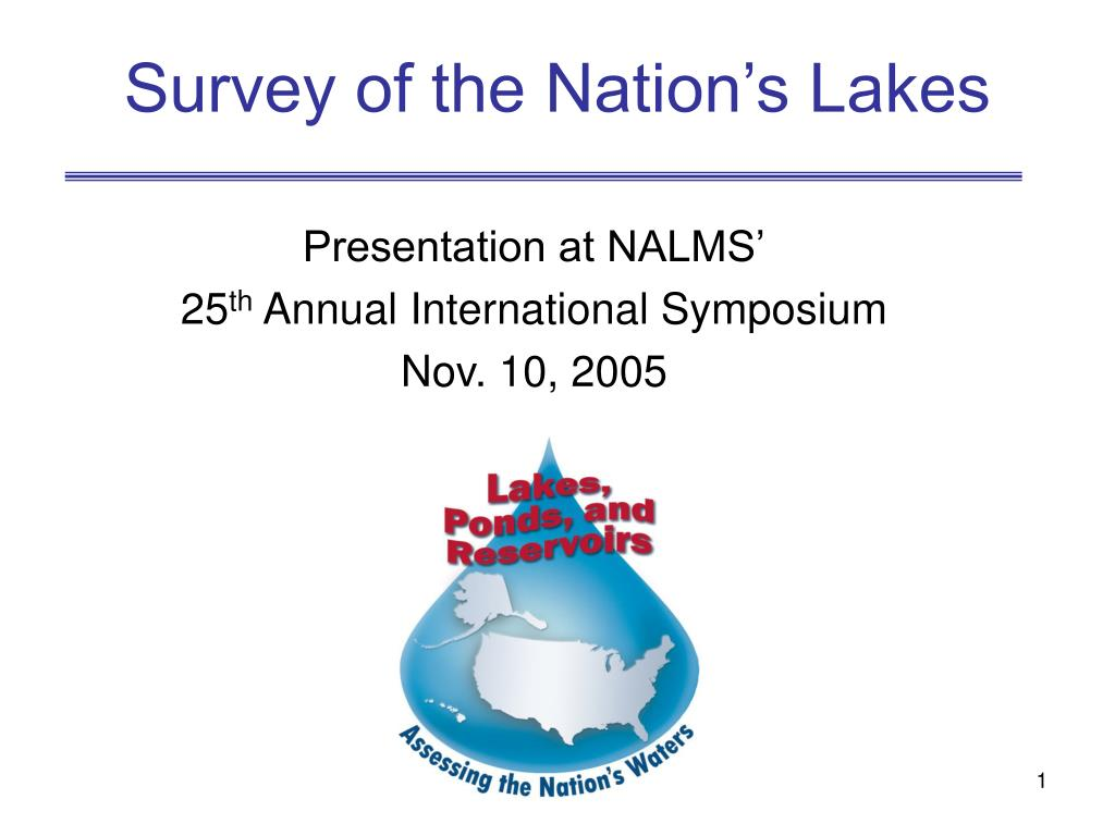 survey of the nation s lakes l.