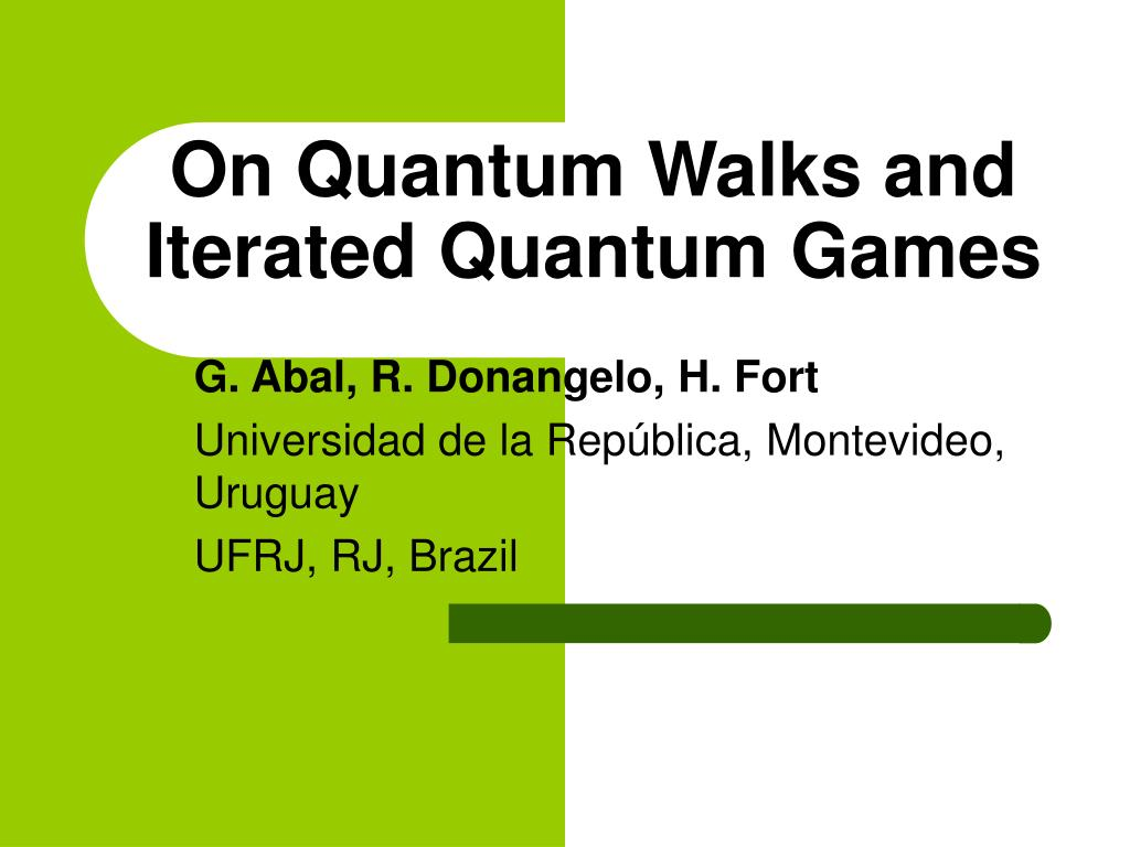 on quantum walks and iterated quantum games l.