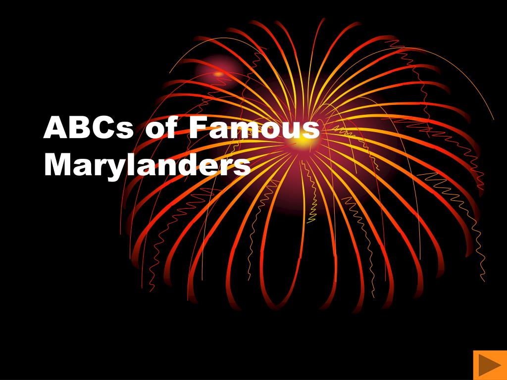 abcs of famous marylanders l.